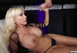 Jizz On Her Boobs – Big Boob Milf Milked His Cock