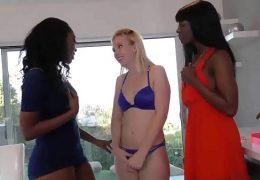 Ana Foxxx, Chanell Heart, Samantha Rone lesbian teens ebony interracial Big Ass threesome