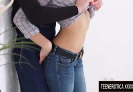Slim Blonde Teen Victoria Roxx Takes a Hard Cock Up Her Spasming Asshole
